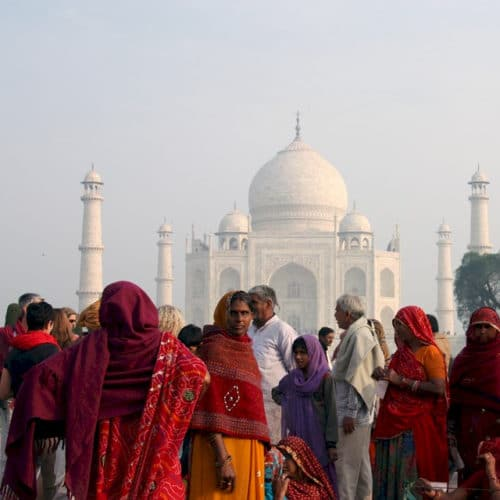 Der Taj Mahal 2019 - für alle Inder ein besonderes Bauwerk.